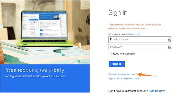 Hotmail sign in – troubleshooting