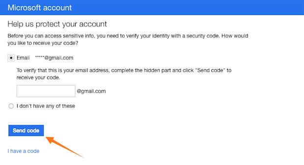 hotmail code