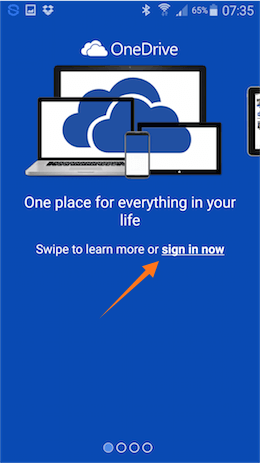 onedrive login mob 7