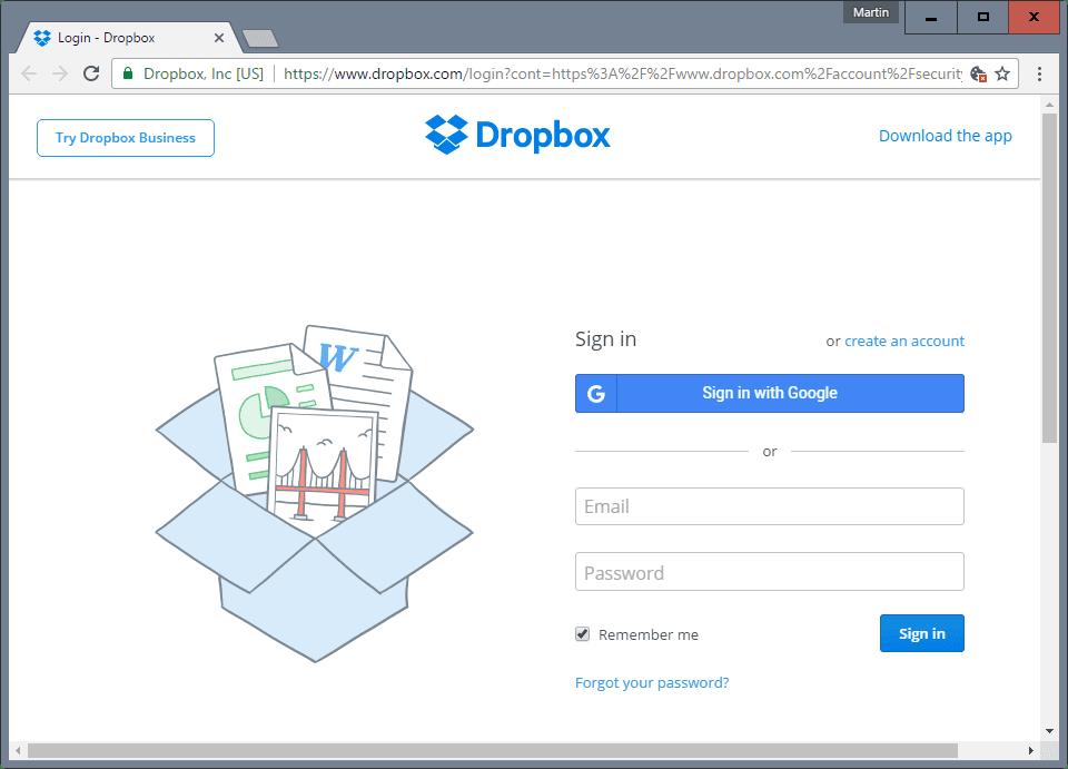Dropbox-SignUp